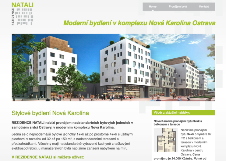 Rezidence Natali web